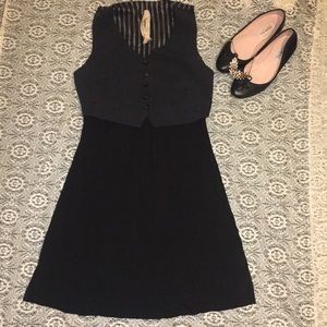 Bailey 44 black vest jersey Jetset dress 8  med